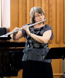 Erika Leake McKnight Playing Flute