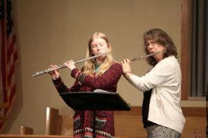 Erika Leake McKnight and Student Playing